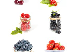 Fresh fruits berries