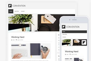 Convention Clean Minimal Blog Theme