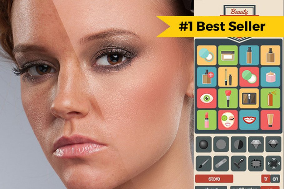 Beauty Retouching Kit v3 0 ~ Photoshop Actions ~ Creative Market