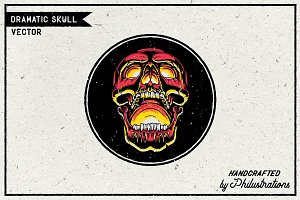 Dramatic Skull Illustration