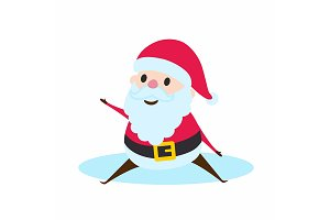 Santa Claus sitting.