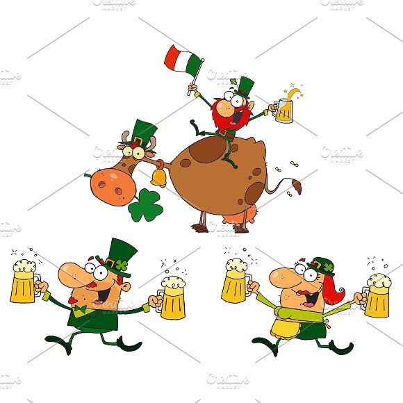 Happy Leprechauns. Collection  - Illustrations