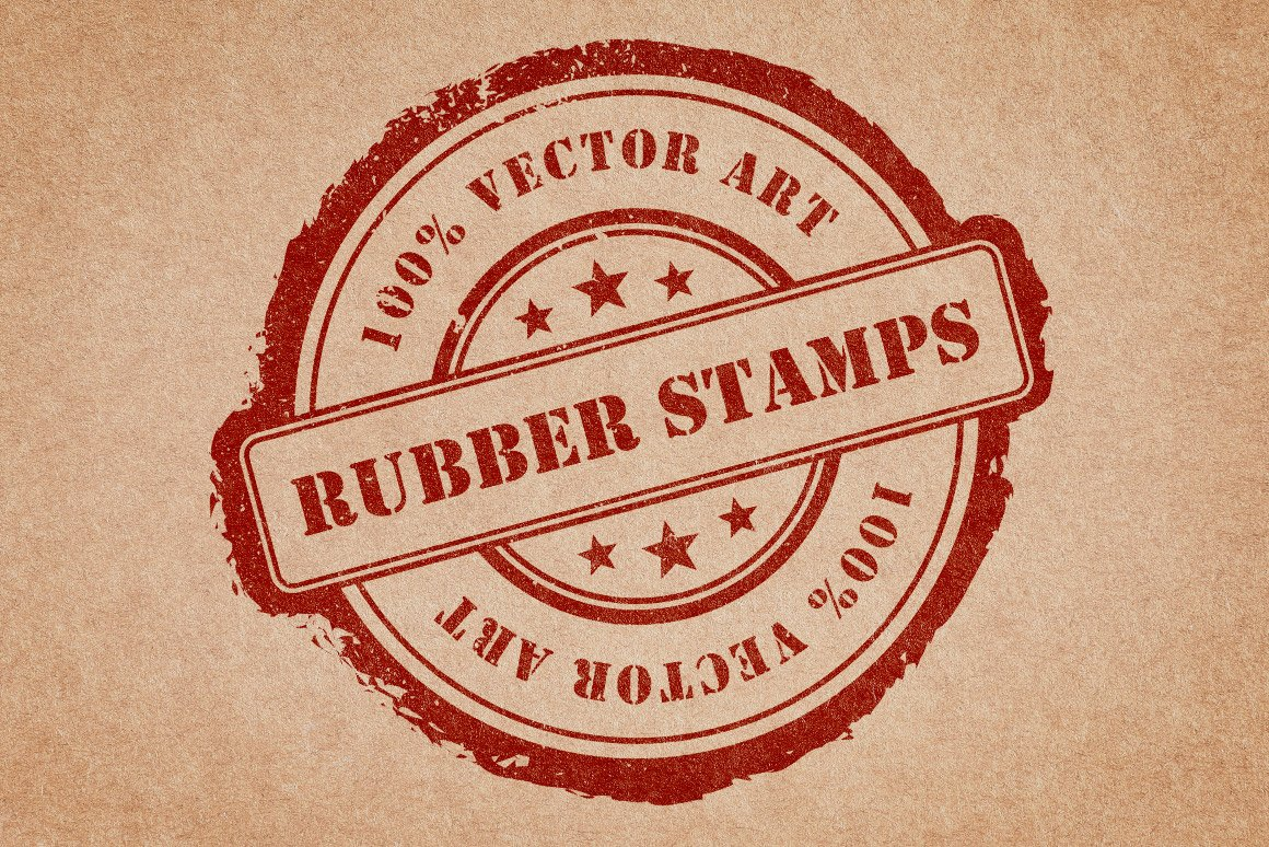 Rubber Stamps Vector Pack Volume 1 ~ Graphic Objects ...