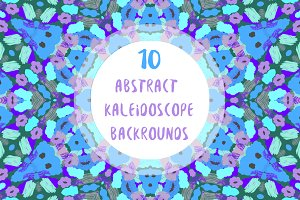 10 abstract kaleidoscope patterns