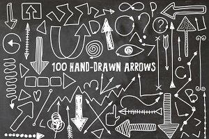 100 Hand Drawn Arrows