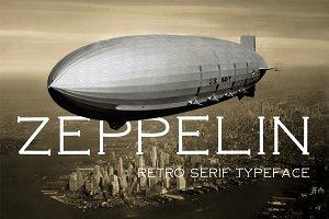 Zeppelin retro font