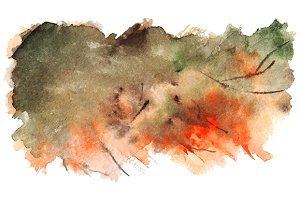 Watercolor autumn pattern texture