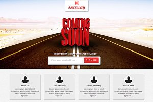Freeway -Responsive Coming Soon Page