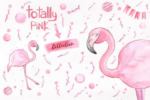 Totally Pink set + free backgrounds