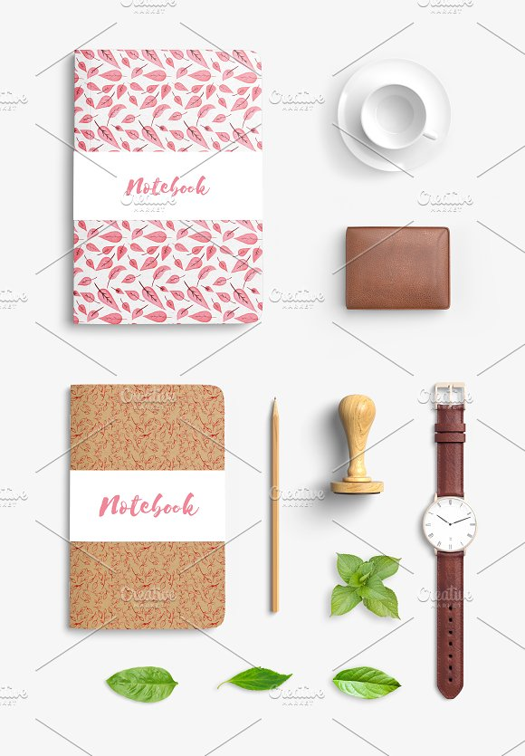 Totally Pink set + free backgrounds in Illustrations - product preview 2