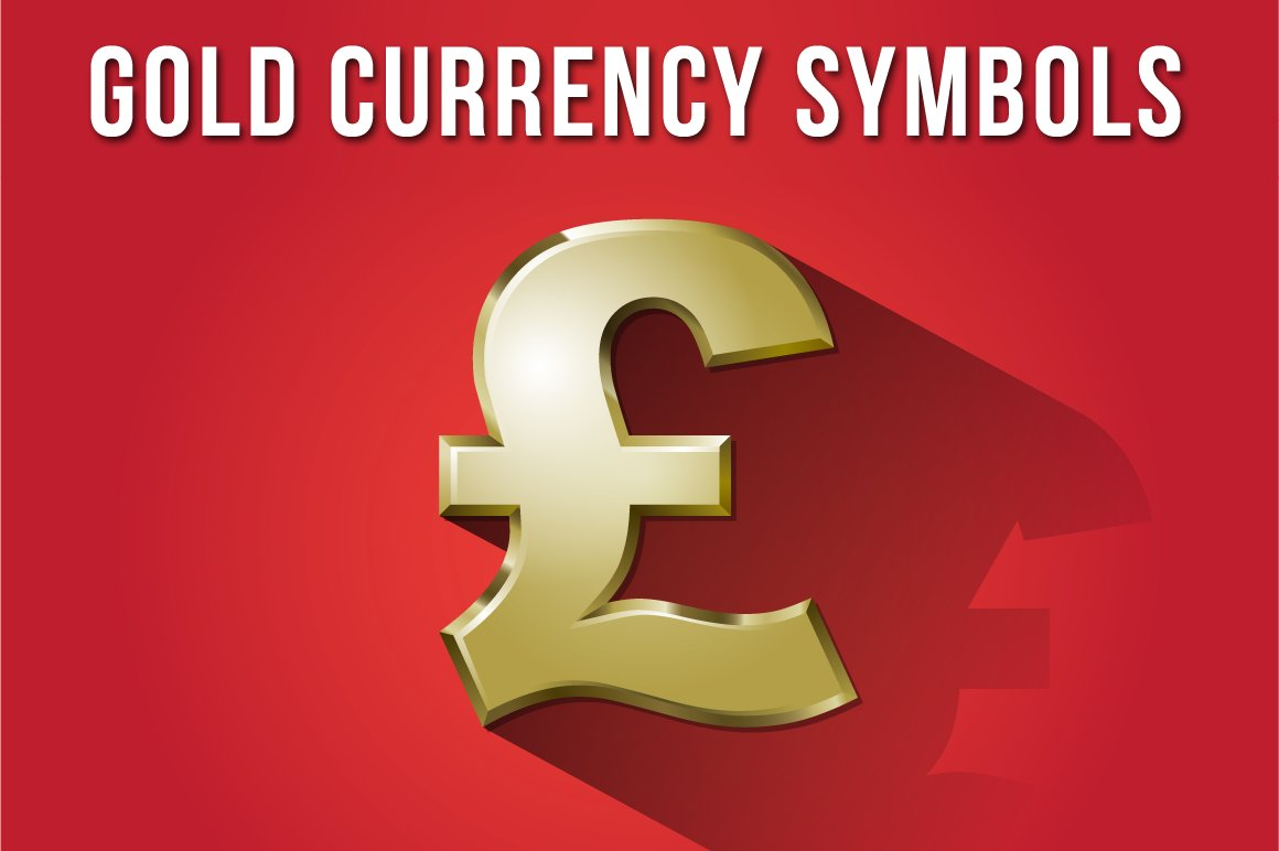 Gold Currency Symbols Icons Creative Market