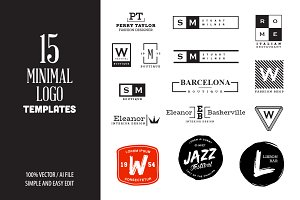 15 Minimal Vintage Logo Templates