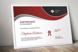 Modern docx corporate certificate
