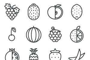 Line art fruit