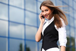 businesswoman calling