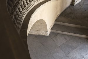 Old stone stairs with decoration