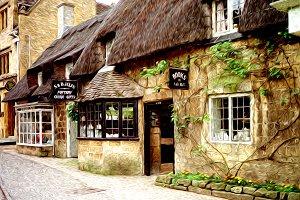 Old English street (impressionist)