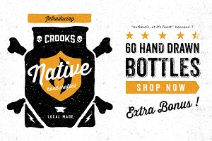 Hand drawn Bottles KIT