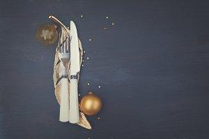 Christmas golden plate