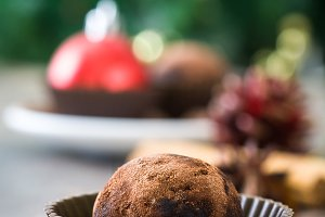 Christmas chocolate truffles