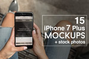 15 iPhone 7 Plus Real Photo Mockups