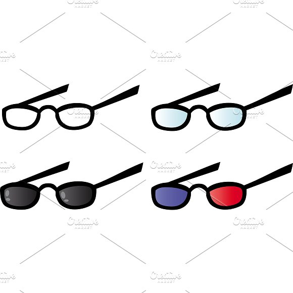 Eyeglasses. Collection - Illustrations