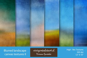 Blurred landscape canvas textures II