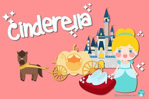 Digital Clipart Cinderella