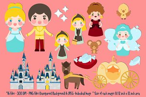 Cinderella Digital Clipart