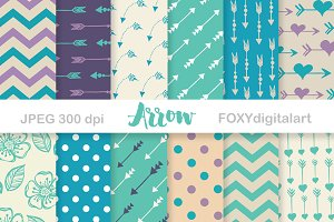 Arrows Digital Paper Scrapbook
