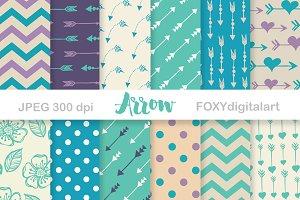 Arrows Digital Paper Scrapbook