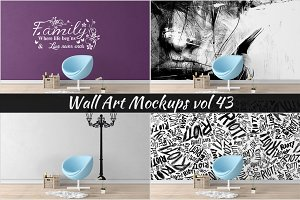 Wall Mockup - Sticker Mockup Vol 43