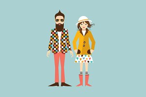 Young hipster couple