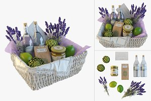 Provence decor basket