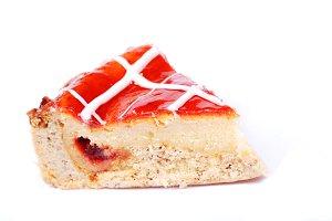 slice of pie with jam