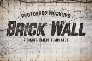 Urban Jungle Brick Wall Mockups Vol1