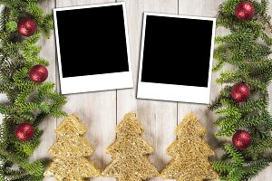 Christmas card background with a space for text
