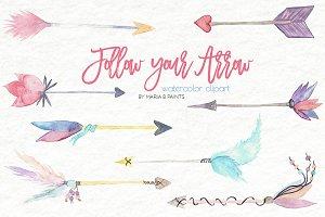 Watercolor Clip Art - Arrows