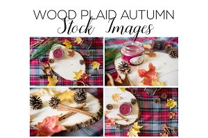 Autumn Stock Images - Wood Plaid