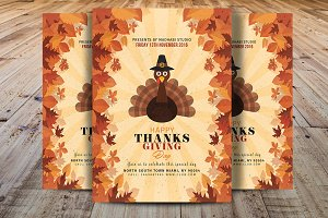 Thanksgiving Day Flyer Template V2