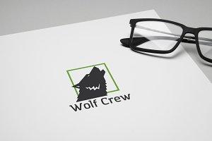 Wolf Crew Logo Template