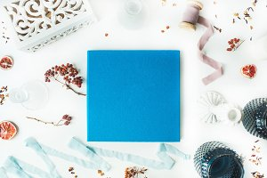 Blue photo album