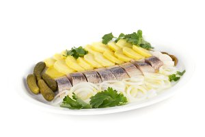 herring fish fillets