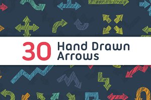 30 Hand Drawn Arrows