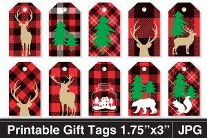 Rustic Plaid Christmas Gift Tags