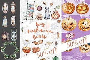 Watercolor Big Halloween Bundle