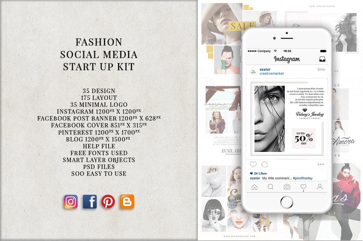 Social Media Start Up Kit ~ Instagram Templates ~ Creative