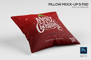 Pillow Mock-up Template (5 PSD)