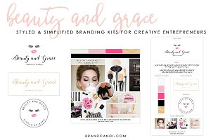 Feminine Beauty Brand Logo Kit