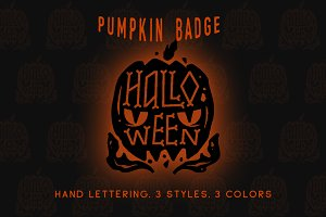 Halloween pumpkin badge